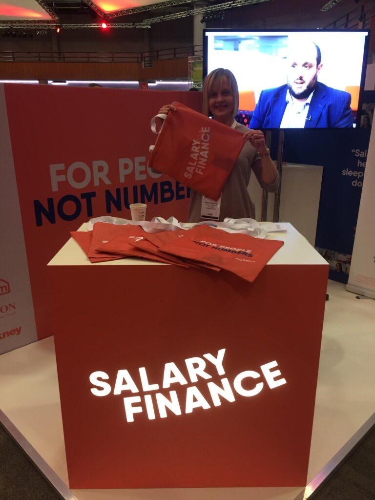 Salary Finance Podium and bags